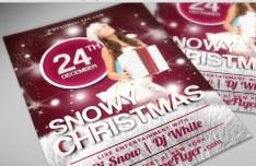 Snowy Christmas PSD Flyer Template