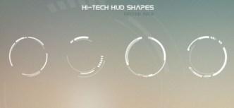 Hi-Tech HUD Shapes Vector