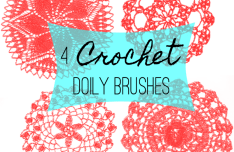 4 Crochet Doily Photoshop Brushes