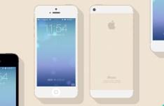 Flat iPhone 5s Mockups PSD