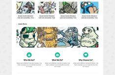 Bearded - Responsive Blogging and Portfolio Website Template PSD