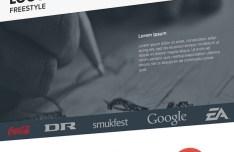 Flat Landing Page Template PSD