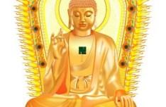 Golden Buddha Statue Vector