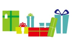 Set Of Flat Gift Boxes Vector