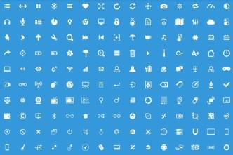 150+ Glyph Icons PSD