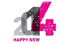 Happy New Year 2014 Design Vector