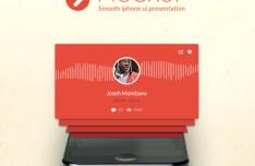 Smooth iPhone UI Presentation Mockup PSD