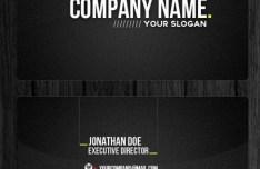 Dark Professional Business Card template