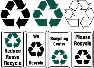 Set Of Vector Recycling Symbols