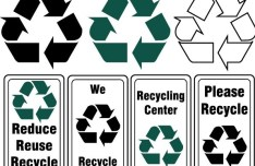 Set Of Vector Recycling Symbols