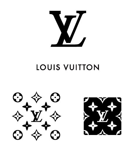 Simple Louis Vuitton Logo & Pattern Vector