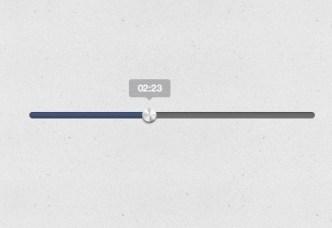 iTunes Style Music Player Progress Bar PSD