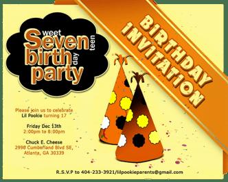 Birthday Invitation Template Vector