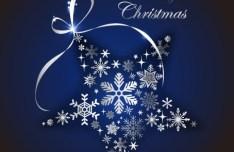 Creative Christmas Star with Ribbon Vector