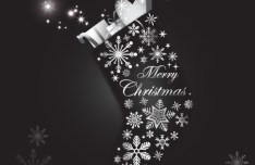 Creative Christmas Stocking with Gifts Vector