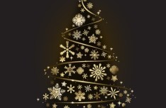 Creative Gold Christmas Tree Design Vector 01