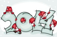 Happy New Year 2014 Text Design Vector 02