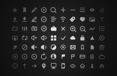 100+ Simple and Clean Icons Vector PSD