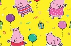 Lovely Cartoon Hippo Pattern Background Vector