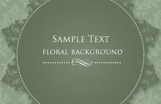 Vintage Floral Frame Vector Illustration 05