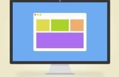 Flat Display Icon PSD