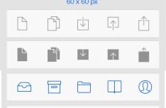Flat Style & iOS 7 Line Style Icon Set Vector PSD