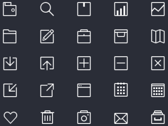 80 Thin Line Icons PSD