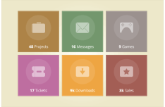 Tile Icons PSD