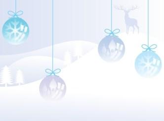Cartoon Christmas Balls Illustration Vector