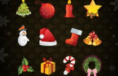 14 High Quality Christmas Icons Vector