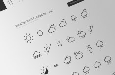 42 Weather Line Icons Vector PSD