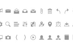 32 Grey Web Icons PSD
