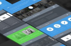Twish Single Page Website Template PSD