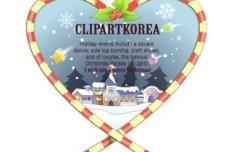 Cartoon Happy Christmas Greeting Card Design Vector 04