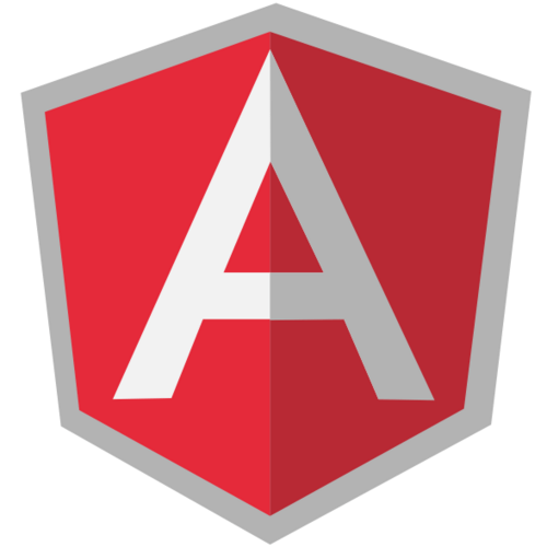 Flat AngularJS Logo PSD