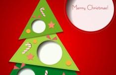 3D Cartoon Christmas Card Design Vector