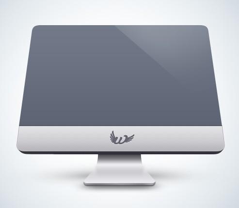 Flat iMac Mockup PSD