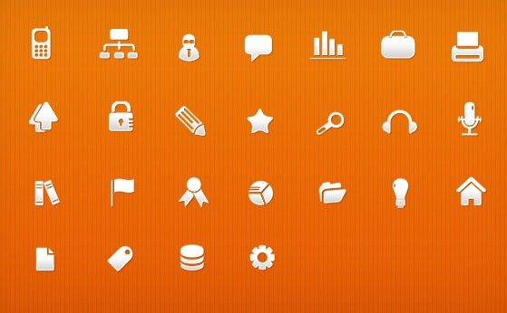 25 Business Icons PSD