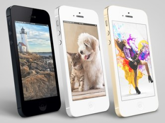 iPhone 5S Mockups Side View PSD
