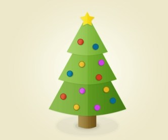 Lovely Christmas Tree Icon PSD