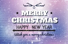 Fashion Merry Christmas and Happy New Year Design Vector