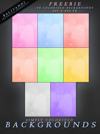 Set Of Colorized Background Textures
