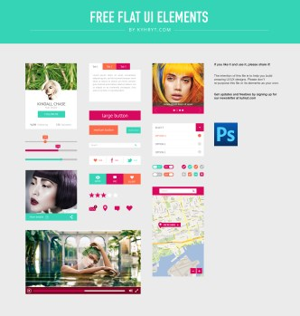 UI Elements Flat PSD