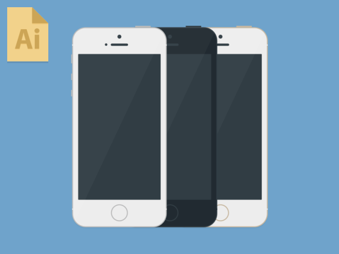 iPhone 5S Mockup Set Vector