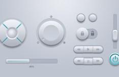 Set Of Circular Control Buttons PSD