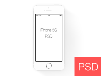 Simple White iPhone 5S Frame PSD