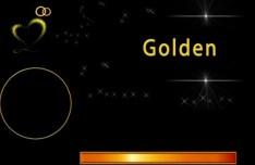 Golden Star Ornaments PSD