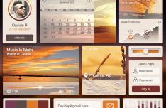 Desert UI Kit PSD