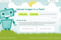 File Image Hosting PSD Web Template