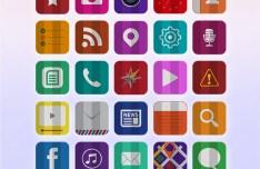 30 Folded Flat iOS 7 Icons